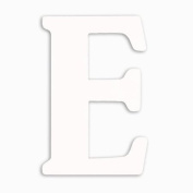 Munch Oversized White Wood Letters, E
