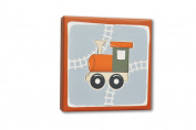 Homeworks Etc Train Canvas Wall Art, Orange/Grey/Beige