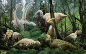 Brewster Nat Geo Kids NG94615 Pre-pasted Wall Mural Dinosaurs, 182.9cm Width x 114.3cm Height