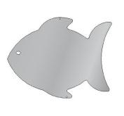 Se-Kure Concepts Silhouette Mirror, Fish