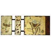 Secret Garden Paper Laminated to Wood Wall Art by Studio Arts