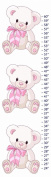 Snuggles Teddy Bear Canvas Growth Chart