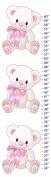 Snuggles Teddy Bear Canvas Growth Chart
