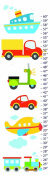 Planes Trains Cars Canvas Growth Chart