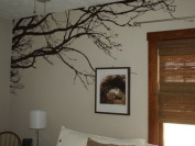 Tree Top Wall Branch Decal Nursery Decor (2.44m Wide X 111.8cm High) Choose Colours #1130
