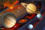 Brewster National Geographic Kids NG94613 Planets Wall Mural, 182.9cm x 121.9cm