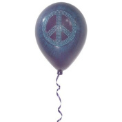 Girly Chic Permanent Wall Peace Sign Balloon Colour