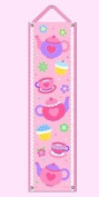 Tea Party Hanging Growth Chart w Pink Ribbon