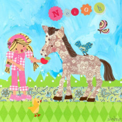 Oopsy Daisy Neigh Goes The Pony Stretched Canvas Wall Art by Winborg Sisters, 35.6cm by 35.6cm
