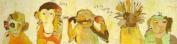 Oopsy Daisy Monkeys Stretched Canvas Wall Art by Jennifer Mercede, 121.9cm by 30.5cm