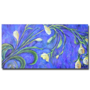 Trademark Fine Art Yellow Tulips by Wendra Canvas Wall Art, 41cm x 80cm