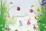 Brewster 4-260 Princess 4 Panel Mural with Paste, 2.44m x 0m 10.2cm by 2.44m x 0m