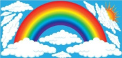 Giant Rainbow, Sun and Clouds Wall Stickers, Decals, Nursery Wall Decor