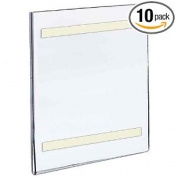 Azar Displays 309941cm Width by 21.6cm Height Wall U-Frame with Adhesive Tape, 10-Pack