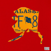 Oopsy Daisy Alaska Licence Plate Map Red Stretched Canvas Wall Art by Aaron Foster, 35.6cm by 35.6cm