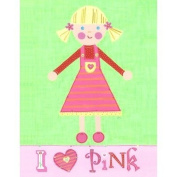 The Little Acorn Painting, I Love Pink Girl