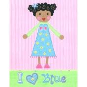 The Little Acorn Painting, I Love Blue Girl