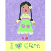 The Little Acorn Painting, I Love Green Girl