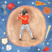 Oopsy Daisy Baseball Star- Boy Stretched Canvas Wall Art by Donna Ingemanson, 35.6cm by 35.6cm