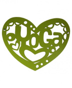 Yoga Heart Wall Art, Green
