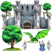 Instant Murals Peel and Stick Huge Wall Stickers - Medieval Castle and Accessories