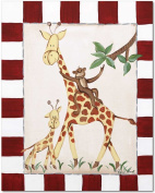 Doodlefish Gallery-Wrapped 40.6cm x50.8cm Wall Art, Giraffes and Monkey