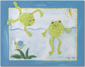 Doodlefish Gallery-Wrapped 50.8cm x40.6cm Wall Art, Frog Pond