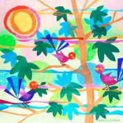 Oopsy Daisy Summertime with Birds Stretched Canvas Art by Gale Kaseguma, 53.3cm by 53.3cm
