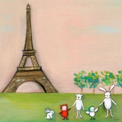 Oopsy Daisy We're in Paris Stretched Canvas Wall Art by Marisa Haedike, 45.7cm by 45.7cm