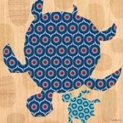 Oopsy Daisy Geo Sea Turtles Stretched Canvas Wall Art by Maria Carluccio, 45.7cm by 45.7cm