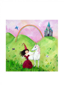 Cici Art Factory 40.6cm x 40.6cm Brunette Haired Princess