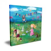 Cici Art Factory Blonde Girl Tea Party, 40.6cm x 40.6cm