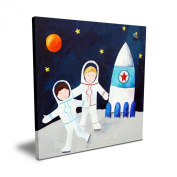 Cici Art Factory Brothers on the Moon, 40.6cm x 40.6cm