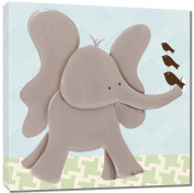 Doodlefish Gallery-Wrapped 45.7cm x45.7cm Wall Art, Ellis Elephant