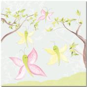 Doodlefish Gallery-Wrapped 45.7cm x45.7cm Wall Art, All-a-Flutter