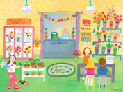 Oopsy Daisy Flower Shop Stretched Canvas Wall Art by Jill Mcdonald, 61cm by 45.7cm