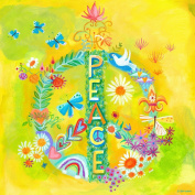 Oopsy Daisy Peace for All Stretched Canvas Wall Art by Donna Ingemanson, 53.3cm by 53.3cm