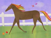 Oopsy daisy Graceful Gallop Canvas Wall Art by Melanie Mikecz, 61cm by 45.7cm