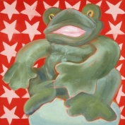 Baxter's Corner Fred the Frog Series 18 X 18 Kids Gallery Wrapped Canvas Wall Art; Green & Red