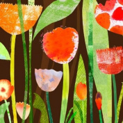 GreenBox Art and Culture Tulip Garden Stretched Canvas Wall Art by Maria Carluccio, 61cm by 61cm