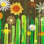 GreenBox Art and Culture Daisy Garden Stretched Canvas Wall Art by Maria Carluccio, 61cm by 61cm
