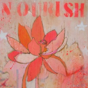 Wheatpaste Art Collective Lotus Nourish Stretched Canvas Wall Art by Jennifer Mercede, 61cm by 61cm