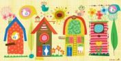 Oopsy Daisy Backyard Birdhouses Stretched Canvas Wall Art by Carolyn Gavin, 91.4cm by 45.7cm
