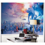 Roommates Decor Star Wars Saga Chair Rail Prepasted Mural 1.83m x 3.2m - Ultra-strippable