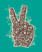Wheatpaste Art Collective Floral Peace Stretched Canvas Wall Art by WP House, 61cm by 76.2cm