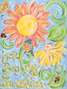 Green Frog Art Canvas Gallery Wrapped Art, You Are My Sunshine