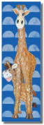 Baxter's Corner Gerome the Baby Giraffe Series 18 X 54 Kids Gallery Wrapped Canvas Wall Art; Blue, Orange, Yellow & Brown