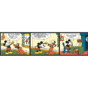 Imperial Disney Home DF059211B Mickey Comic Strip Border, Colour, 17.3cm Wide