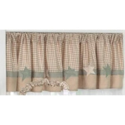 Jessica Breedlove Sweet Dreams Infant Valance, Cream/Brown