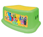 Sesame Street Step Stool, Green/Yellow, Sesame Street Characters , Safe Step, Solid Base, Rubber Non-slip stepping surface, Large rubber feet hold the step stool firmly in place, Sturdy enough for grown-ups too, Rounded corners